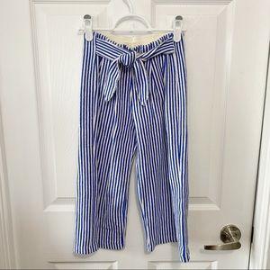 Zara Girls Wide Leg Striped Trousers Sz 8